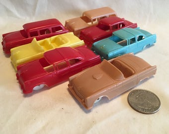 Lot of 7 F&F Plastic Ford Cereal Premium Cars