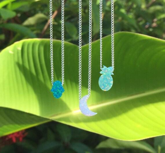 opal charm necklaces