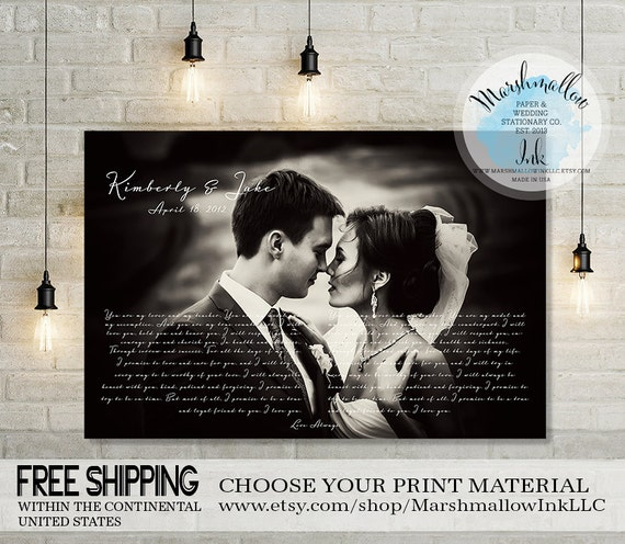 Wedding Vow Gifts: Wedding Vows Our 1st Anniversary Gift Vows By