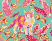 1/2 yard TABBY ROAD by Tula Pink for Free Spirit Fabrics Disco Kitty-Strawberry Fields