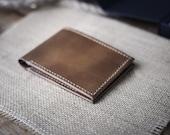 BillHolds Collection - Handmade Wallet Perfection - Ultra Thin, Premium Vegtan Leather, Minimalist Front Pocket Design, Saddle Stitching