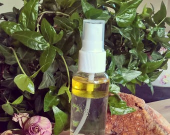 Liquid Smudge Smudging Spray Citrine Crown Smokeless Mist Spray, Crystal Citrus Scent, hoodoo, for him her, room fragrance fruity