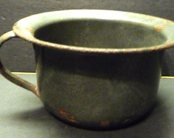 50% OFF -Old Grey Graniteware Child's Chamber Potty