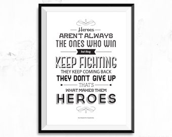 The Mortal Instruments City of Heavenly Fire - Cassandra Clare - Quote - Poster Print
