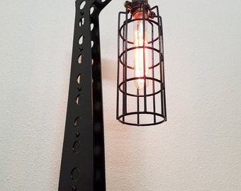 Industrial Lighting - Steampunk Lamp - Desk Lamp - Edison Light - Crane Light