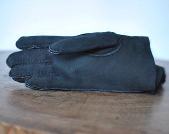 Vintage LAMB LEATHER FUR men's winter gloves........