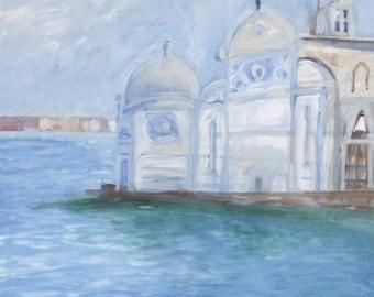 EMILIANA CHAPEL VENICE - Venice Painting - Original Fine Art - Oil Painting - Contemporary Art - ElizabethAFox