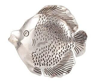 Antiqued Silver Fish Pendants