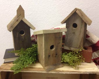 Birdhouses, Reclaimed Wood