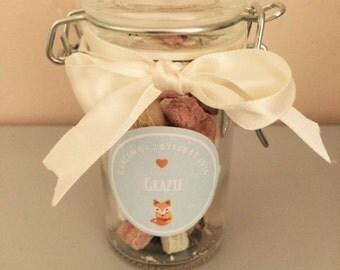 Glass jar wedding favor