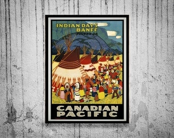 Reprint of a Vintage Canadian Pacific Railroad Poster