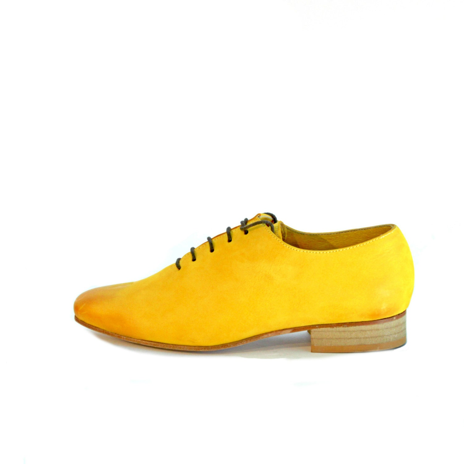 s yellow oxford shoes flat shoes s leather by
