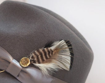 Curlew Feather Hat Pin