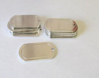 Dog Tag Blanks//16G//Border blanks//blanks with hole//Hand Stamp//hand stamping blanks//stamping supplies//metal blanks//aluminum tags