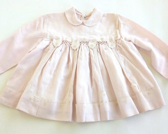 Cotton Dress girl (18-24 months) Vintage 60's Made in Italy