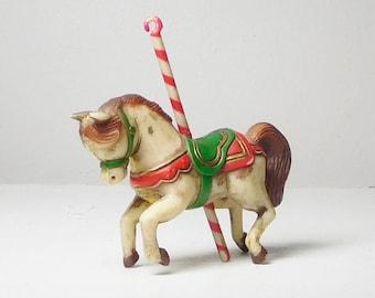 Merry Go Round Horse Carnival Pony Plastic Vintage