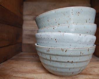 Bowl Set - Made to Order Bowls - Cereal Bowls - Salad Bowl - KJ Pottery