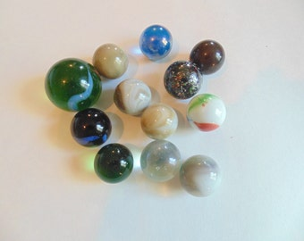 Vintage Marbles Glass Large Marbles Marble Lot