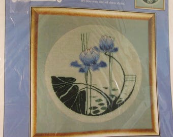 Cross Stitch Kit - Water Lilies