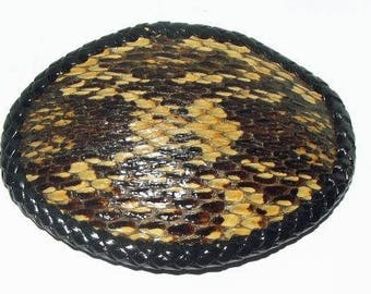 Genuine Northern Pine Snake Belt Buckle/Hand Tanned/Hand Laced/Snake Skin/Woman or Man