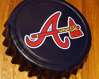 "Atlanta Braves ALT Georgia MLB Giant 16"" Bottle Cap Wall Hanging for Man Cave"
