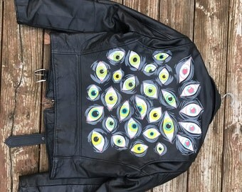 Lunar Eyeball Leather Motorcycle Jacket