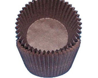 Brown CK Glassine Baking Cups. 50 Cupcake Liners