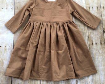 button back dress, girls dress, infant dress, buttons, 3/4 sleeve, short sleeve, tank dress