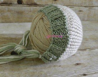 Knit Newborn Bonnet - Newborn Bonnet - Newborn Photography - Photo Prop - Knit Bonnet - Simple Bonnet - Classic Bonnet - Knitted Bonnet