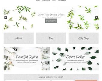 Caroline Wordpress Website Genesis Child Theme Responsive Widget Home Page