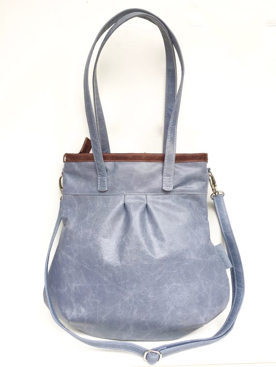 "Hellblaue Ledertasche ""SHELLY BAG"" BLUESKY"