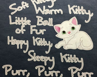 Custom T-Shirt:  Soft Kitty, Warm Kitty, Little ball of fur...  from Big Bang Theory
