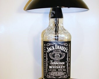 Jack Daniels Touch Lamp,Jack Daniels light,Jack Daniels lamp,Bottle, light,wine,man cave, Jack Daniels lamp