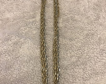 Sarah cov long silver and gold necklace