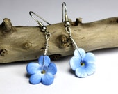 Forget-Me-Not - Tiny Flower Earrings - Memorial Jewelry - Alaska Jewelry - Alaska Earrings - LDS Jewelry - Sterling Silver