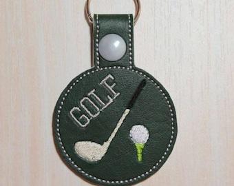 Key Fob/Snap Tab - Golf