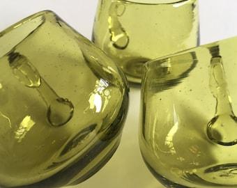 Vintage Blenko Punch Cups.