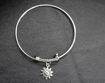 Silver Bracelet with Sun Charm