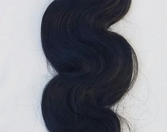 """20"""" Body Wave Weft Hair, 100grs,Weft Weaving (Without Clips),100% Human Hair Extensions #1 Jet Black"""