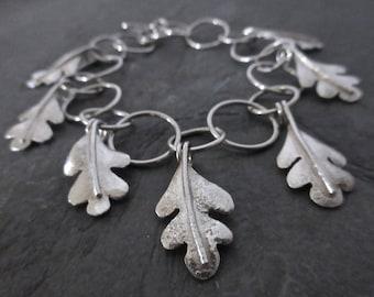 Oakleaf charm bracelet