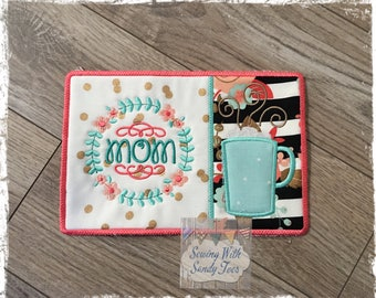 Personalized Mom Mug Rug, Mug Coaster, Mom Snack Mat,  Mom's Birthday Gift, Mother's Day Gift, Gift for Mom, Mother birthday gift