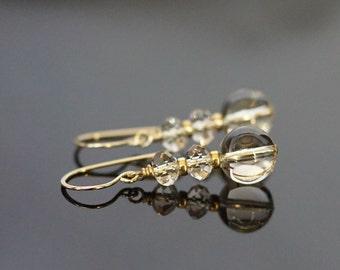 Swarovski earrings, Swarovski jewelry, Swarovski light silk elements crystal earrings, bridal earrings, jewelry gift, gold fill ear wires