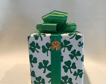 Irish Music box wrapped as a gift