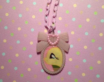 My Little Pony Fluttershy Cameo Necklace