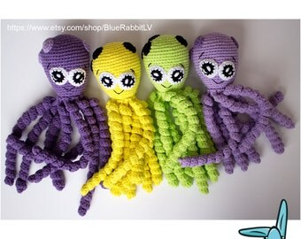 Kawaii octopus - Amigurumi crochet pattern. Pattern language - English