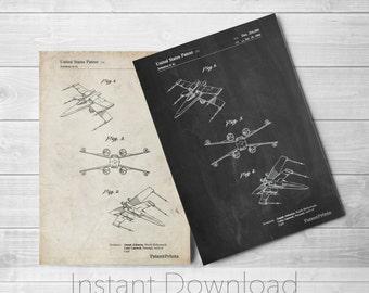 Star Wars Printables, X Wing Starfighter Star Wars Poster, Star Wars Print, X Wing Poster, Star Wars Art, Star Wars Ships, PP1060