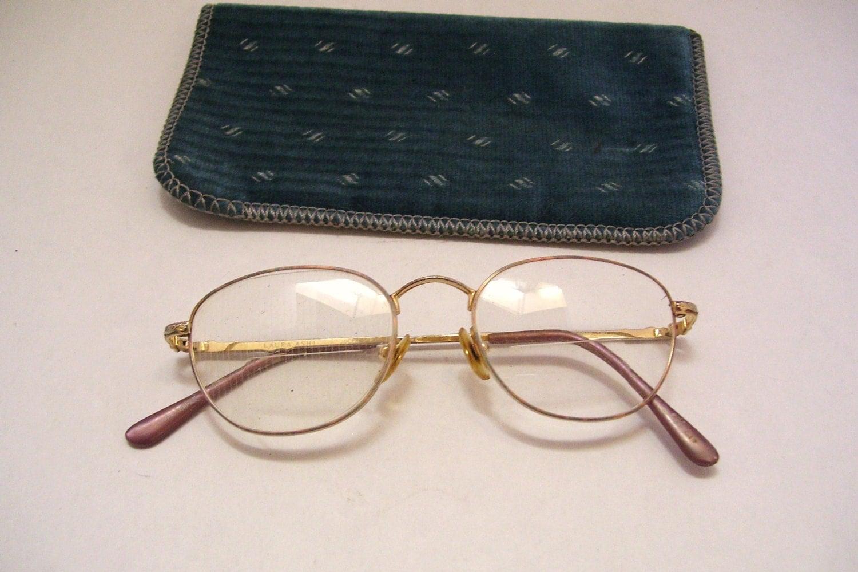 409b17c7544 1980s Laura Ashley Bouquet Eyeglasses Frames with Bifocal Lens Vintage