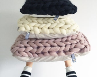 Chunky knit cushion COVER 35 x 35  (12 colours)
