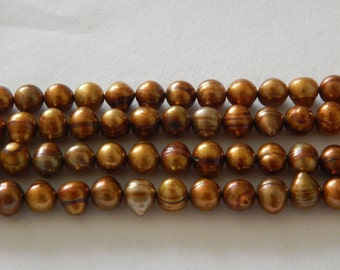 6-8mm FW Pearl Light Brown
