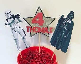 Star Wars centerpiece, darth vador, storm trooper centerpiece
